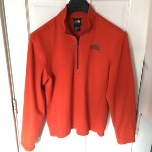 The North Face Mens Orange Fleece